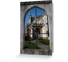 St Nick's Through The Window Greeting Card