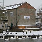 Tea Shop by the Canal - Newbury by Samantha Higgs