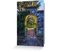Sunny Garden Arch Greeting Card