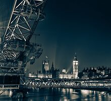 London Cityscape at Night by Ian Hufton