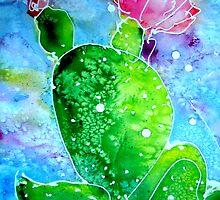 Colorful Cactus, southwest art by M C  Sturman