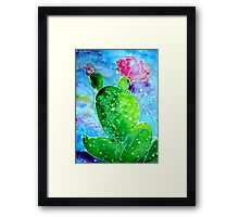 Colorful Cactus, southwest art Framed Print