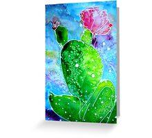 Colorful Cactus, southwest art Greeting Card
