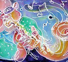 Sax Musician by M C  Sturman