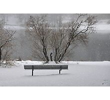 """Winters Bench"" Photographic Print"