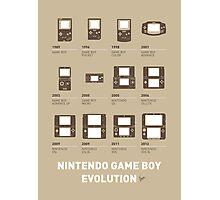 My Evolution Nintendo game boy minimal poster Photographic Print
