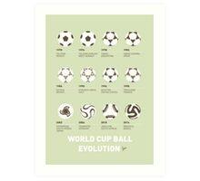 My Evolution Soccer Ball minimal poster Art Print