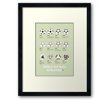 My Evolution Soccer Ball minimal poster Framed Print