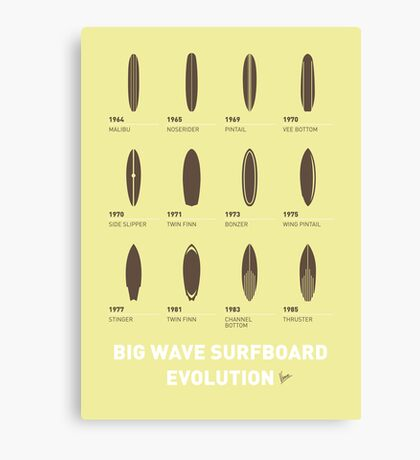 My Evolution Surfboards minimal poster Canvas Print