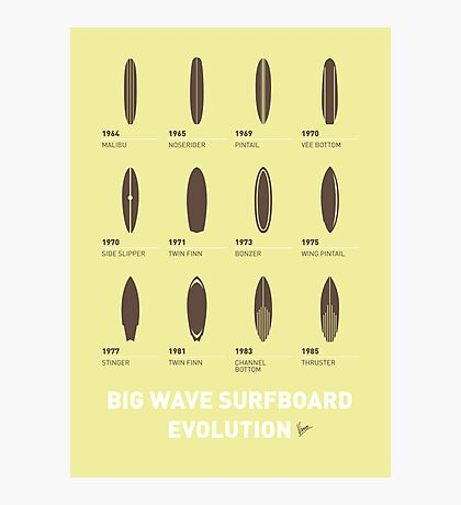 My Evolution Surfboards minimal poster Photographic Print
