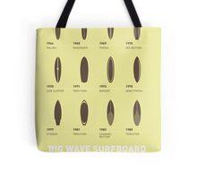 My Evolution Surfboards minimal poster Tote Bag