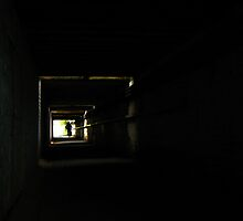 Cyclist in underpass by rgrayling