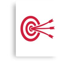 Archery target arrows Canvas Print