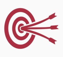 Archery target arrows by Designzz