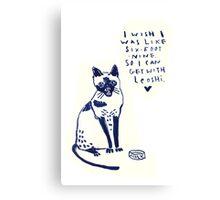 Hip Hop Cat Leoshi Canvas Print