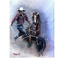 Calf Roper Quarter Horse Photographic Print