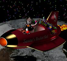 Santa's Rocket Sled by photon-nectar