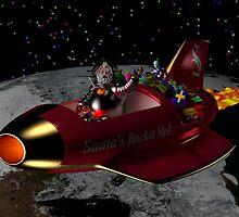 Santa's Rocket Sled by photon-nectar