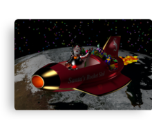 Santa's Rocket Sled Canvas Print