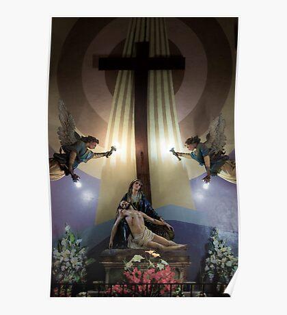 The Pieta At San Alfonso Church Poster