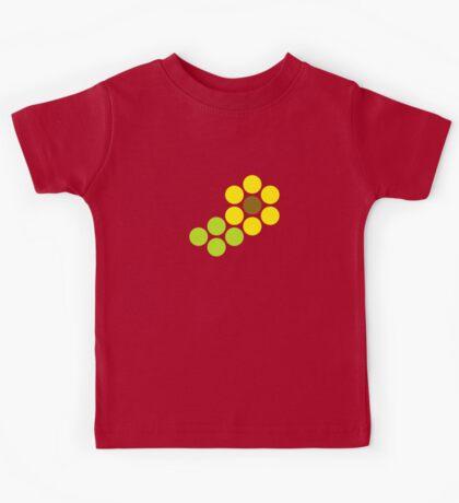 Polka Dot Sunflower Kids Tee
