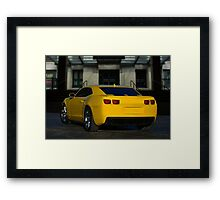 2013 Camaro RS Transformers Replica Framed Print