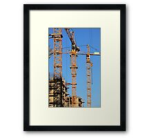 tower cranes Framed Print