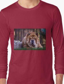 Chow dog portrait Long Sleeve T-Shirt