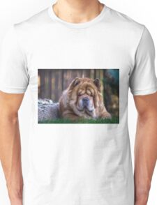 Chow dog portrait Unisex T-Shirt