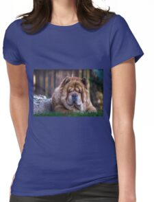 Chow dog portrait Womens Fitted T-Shirt