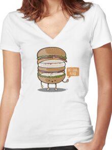 Diet Soda Women's Fitted V-Neck T-Shirt