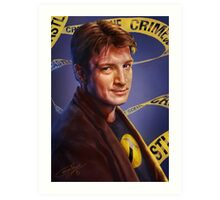 Nathan Fillion Art Print