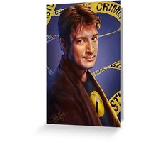 Nathan Fillion Greeting Card