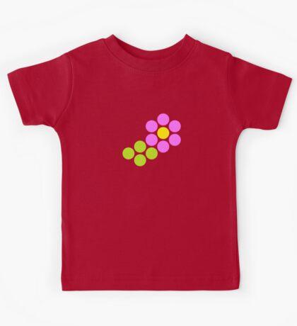 Polka Dot Flower (Pink) Kids Tee