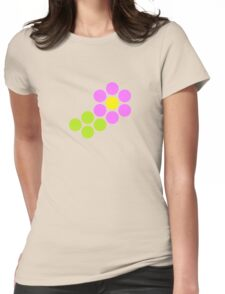 Polka Dot Flower (Pink) Womens Fitted T-Shirt