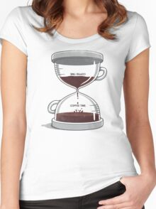 Coffee Time Women's Fitted Scoop T-Shirt