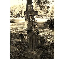 Mother and Cross Artistic Photograph by Shannon Sears Photographic Print