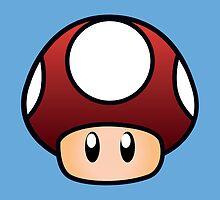Super Mario Mushroom by Lauramazing