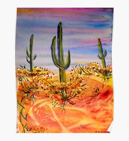 Saguaro Cactue, southwest landscape Poster