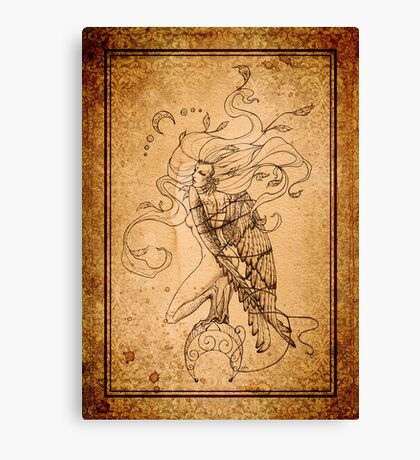 Breaking Free - The Harpy - Aged Lines Canvas Print