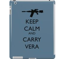 Keep Calm and Carry Vera - black text iPad Case/Skin
