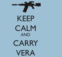 Keep Calm and Carry Vera - black text by reddesilets