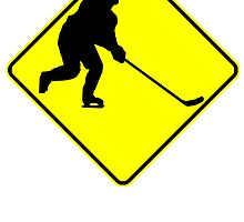Hockey Player Crossing by kwg2200