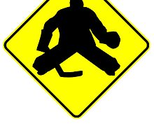 Hockey Goalie Crossing by kwg2200