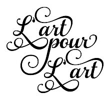 Art for art, French slogan, text design by beakraus