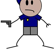 Stick Figure Policeman by kwg2200