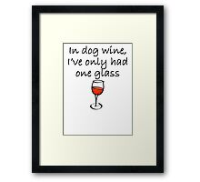 In Dog Wine Framed Print
