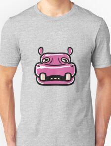 Pink hippo Unisex T-Shirt