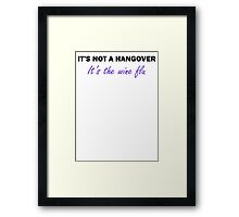 Wine Flu Framed Print