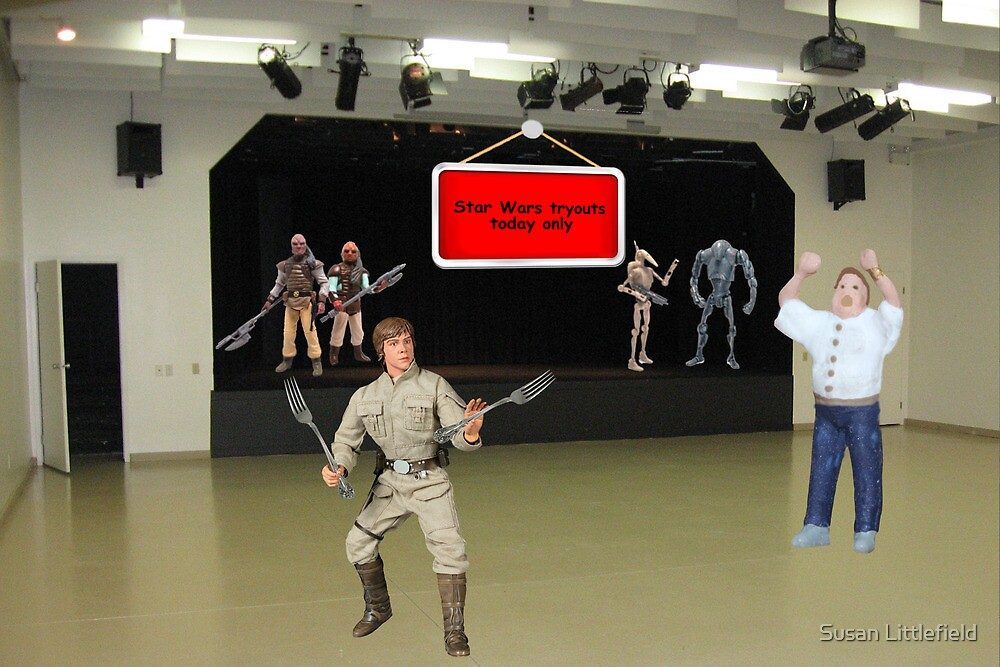 """NO, NO, NO, Billy.....it's """"may the FORCE be with you""""!!! by Susan Littlefield"""